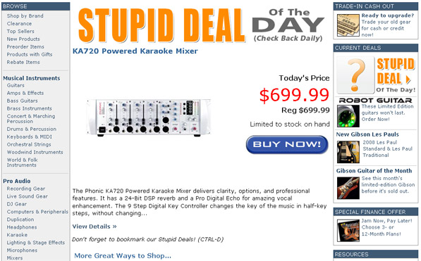 tape op musicians friend stupid deal of the day message board. Black Bedroom Furniture Sets. Home Design Ideas